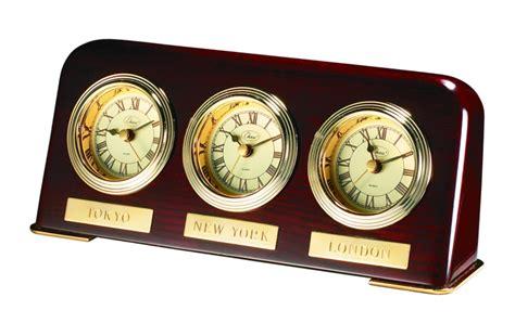 Multi Time Zone Desk Clock Executive Gift Shoppe