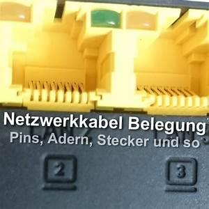 Lan Kabel Stecker : netzwerkkabel belegung bei lan und ethernet kabel pins etc ~ Orissabook.com Haus und Dekorationen