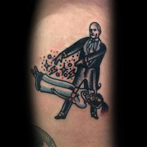 magician tattoo designs  men magic trick ink ideas