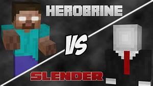 Minecraft Herobrine VS Slender - YouTube