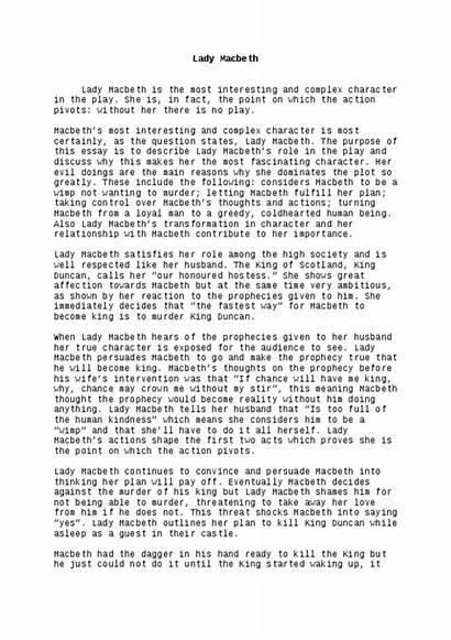 Essay Macbeth Example Hero Ap Lady Ambition