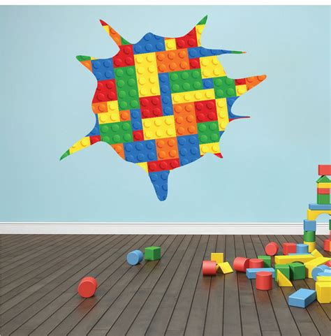 Tapisserie Lego by Lego Wall Decal Kid S Room Wall Decal Lego Wall