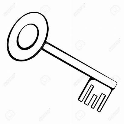 Key Outline Chiave Clipart Sleutel Profilo Bianco