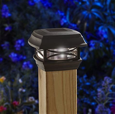 led post cap lights moonrays 91253 solar powered post cap led light for 4x4