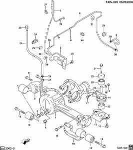 Chevrolet Drive Axle  Front Housing  Mounting   U0026 Actuator