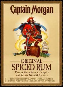 spiced rum With captain morgan label template