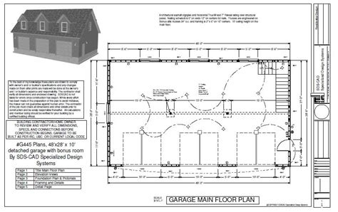 detached garage plans free g445 plans 48 x28 x 10 detached garage