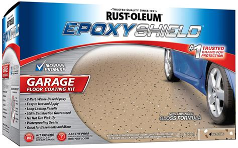 rustoleum garage floor coating rust oleum paint garage floor coating epoxy gloss tan cleaner kit 251966 ebay