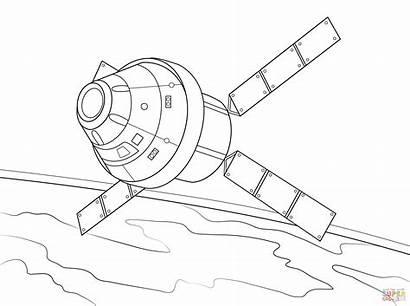 Coloring Orion Alien Spaziale Disegno Navicella Drawing