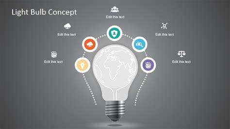 creative light bulb graphic  powerpoint slidemodel