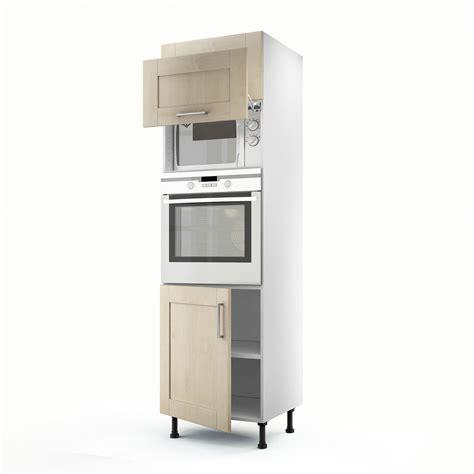cuisine delinia leroy merlin meuble de cuisine colonne blanc 3 portes ines h 200 x l 60