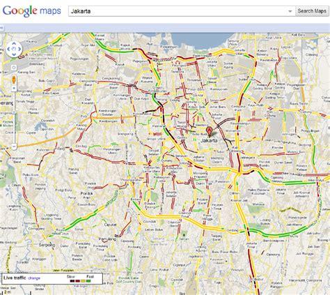 google maps   traffic information  jakarta