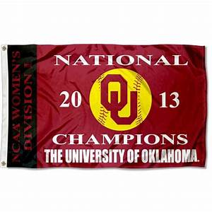 Sooners Womens Softball 2013 Champs Flag and Flag for ...