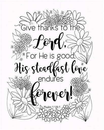 Coloring Bible Pages Verse Christian Psalm Psalms