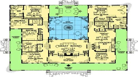 mediterranean home floor plans style home plans with courtyards mediterranean