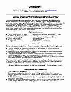 Digital marketing specialist resume sample template for Sample resume for experienced marketing professional