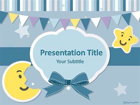 Baby Kids Template by Baby Powerpoint Template Free Template Powerpoint