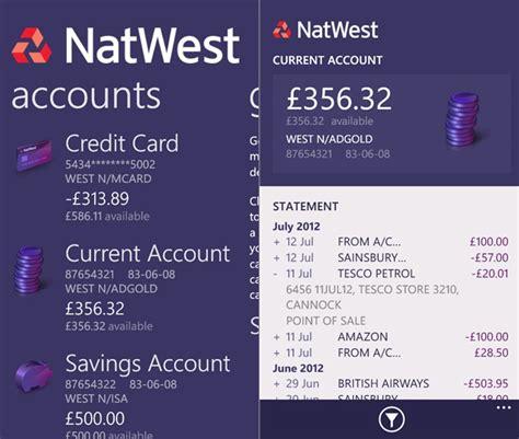 natwest mobile banking app    windows phone