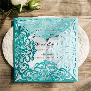 tiffany blue swirl laser cut wedding invitation kits With laser cut wedding invitations for sale