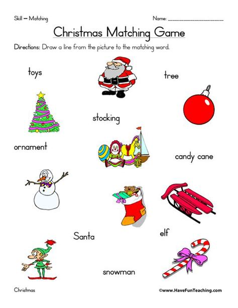Christmas Themed Activity Worksheets