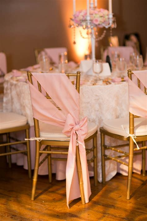 creative diy wedding chair ideas  satin sash