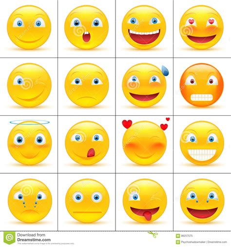 emoticons stock vector illustration  cheerful eyes