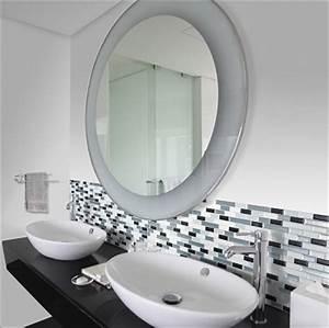Carrelage Adhesif Pour Salle De Bain : carrelage adh sif pour refaire sa salle de bain smart tiles ~ Mglfilm.com Idées de Décoration