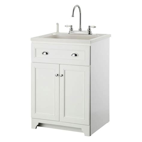home depot laundry sink glacier bay all in one 24 2 in x 21 35 in x 33 85 in