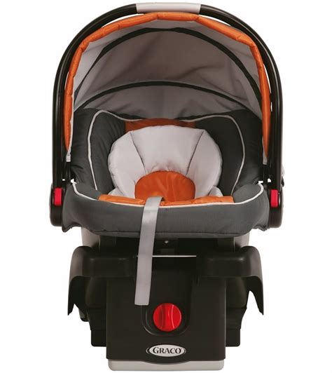 graco snugride click connect  infant car seat tangerine