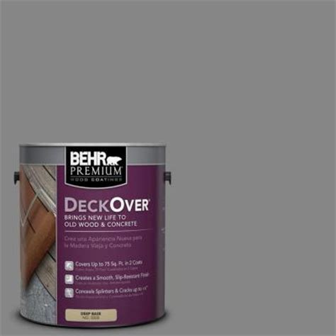 Behr Premium Deck Stain Home Depot by Behr Premium Deckover 1 Gal Pfc 63 Slate Gray Wood And