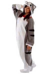 cat costumes for adults tabby cat pajama costume