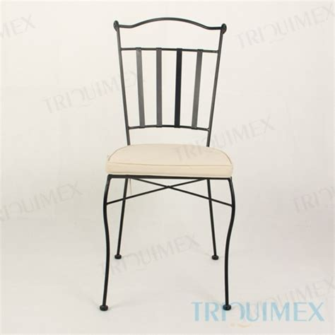 wrought iron dining chair lattice seat slat back