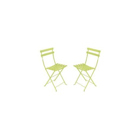 chaise pliante métal lot de 2 contemporain chaise de chaise pliante bistro en métal anis fermob lot de 2