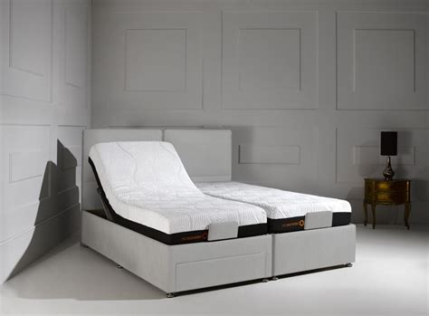 Grey Fabric Bed With Mattress by Sorrento Adjustable Cayenne Black Fabric Divan Bed