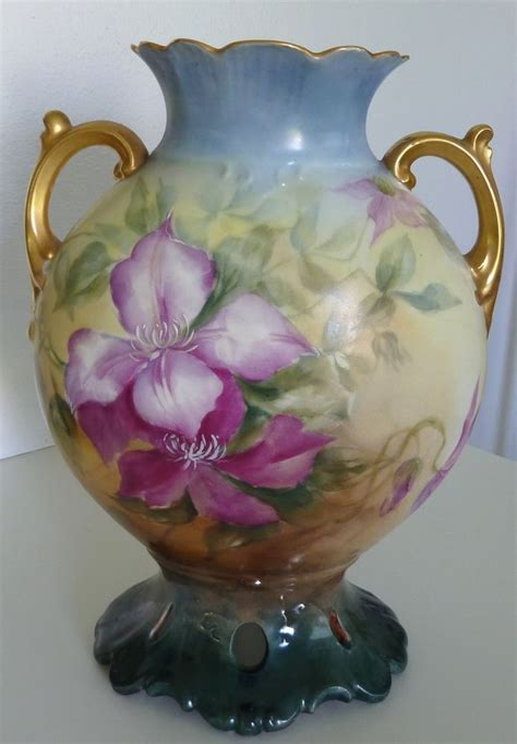 Large Floral Vases by Details About Antique B Co Bernardaud Limoges