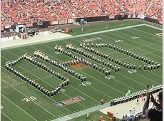 Marching 110 perform for the Cleveland Browns Ohio