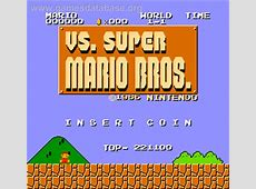 Vs Super Mario Bros Arcade Games Database
