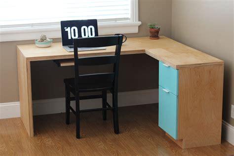 diy l shaped desk plans ana white l shape modern plywood desk diy projects