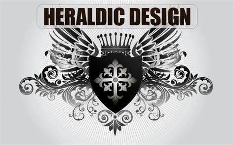 heraldic design  vector art
