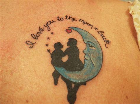 love    moon   tattoo  beth potter