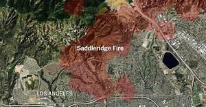 Saddleridge Fire Map  Tracking The Spread