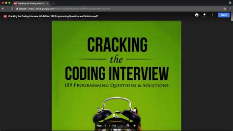 cracking the coding interview 6th edition google drive