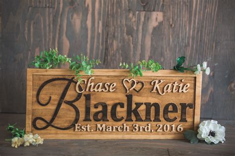 Buy a Handmade Personalized Wedding Gift Family Name Sign ...