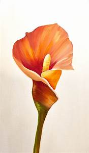 Painting - calla lily flowes home decor floral art #7627