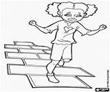Hopscotch Coloring Pages Toys Games sketch template