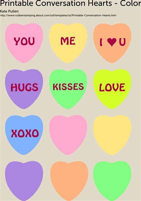 printable conversation hearts  valentines day