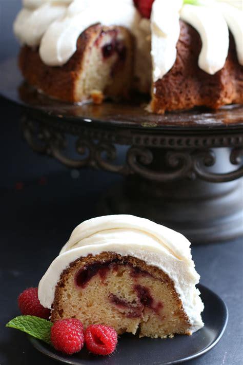 white chocolate raspberry bundt cake  bundt cakes