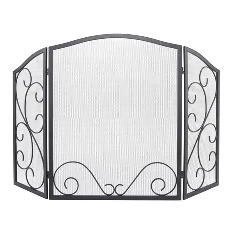 lowes fireplace screen shop style selections black metal fireplace screen at
