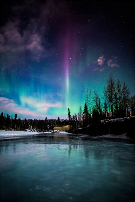 a northern light borealis the river christopher martin