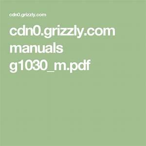 Cdn0 Grizzly Com Manuals G1030 M Pdf